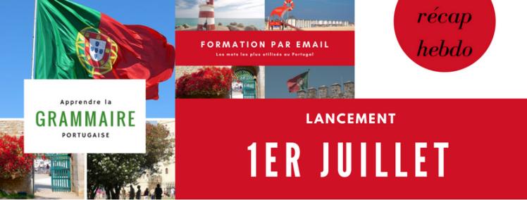 Lancement de la formation par email | Vocabulaire du Portugal