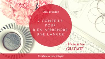 Fiche action : Comment bien apprendre le vocabulaire portugais européen | Vocabulaire du Portugal