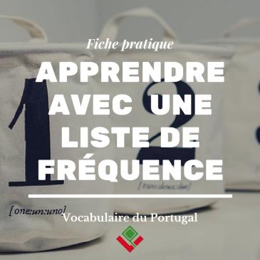 Apprendre le portugais par liste de fréquence - Vocabulaire du Portugal