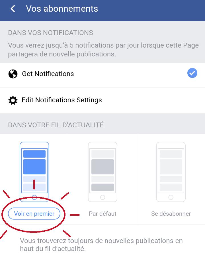 Recommandation: Comment voir en premier une publication sur Facebook ?