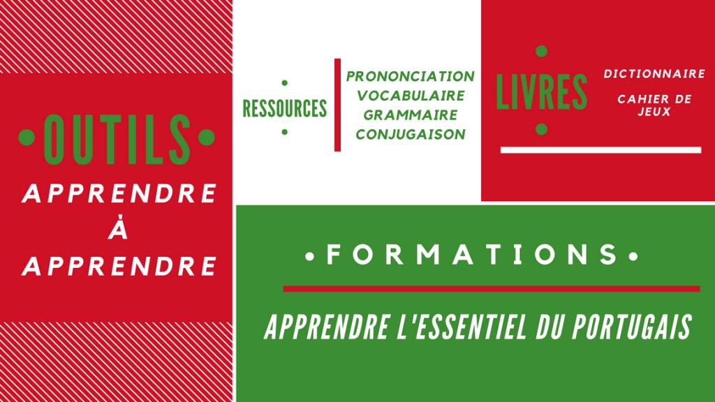Catégories de supports numériques de Vocabulaire du Portugal