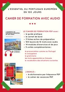 Contenu de la formation avec audio - L'essentiel du portugais européen