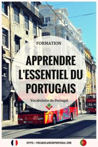 Formation pour apprendre le portugais européen usuel | Vocabulaire du Portugal